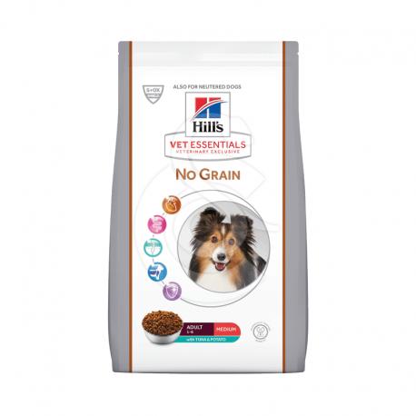 Vetessentials Canine Adult Medium No Grain Thon&Pom. Te
