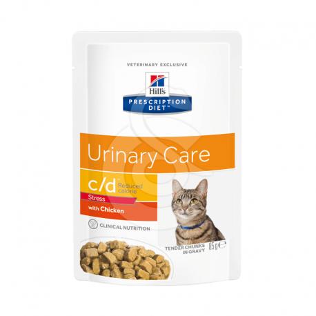 Feline C/D Urinary Stress Reduced Calorie Poulet Sachet re.