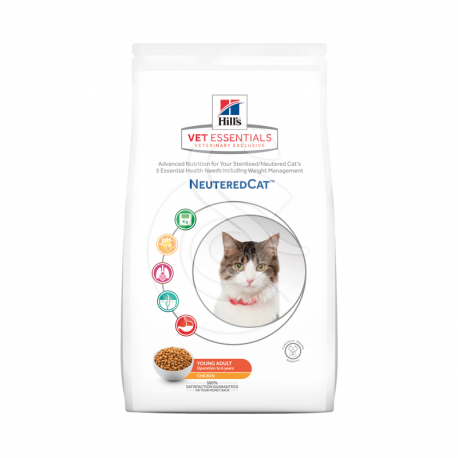 Vetessentials Neutered Cat Young Adult Poulet