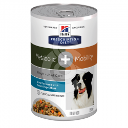 Canine Metabolic + Mobility Mijotés Thon & Légumes Boîte