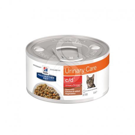 Feline C/D Urinary Stress Mijotés Poulet & Légumes Boîte